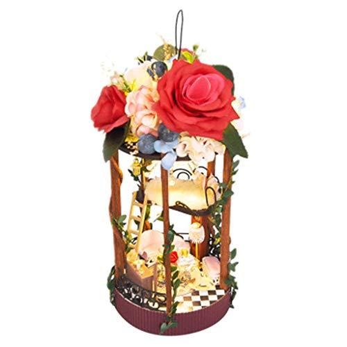 Garden Cottage-kits (Yihen 3D Holz DIY Cottage Secret Garden Cottage Secret Garden Assembly Day to the Basket Basket Birthday Gift)