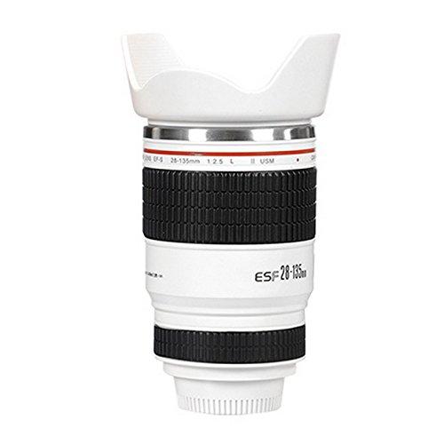 Taza Botella isotérmica tipo objetivo con parasol Canon 28–135taza tarro de lápiz cámara adaptout marca francesa