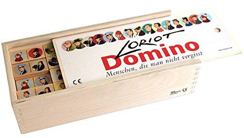 Dominospiel 30 x 13,5 x 8 cm • 40085 ''Loriot Domino'' von Inkognito • Künstler: INKOGNITO © Loriot • Games • noch • mehr • Spiele