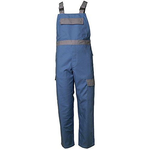Planam Latzhose Major Protect, größe 52, kornblau / grau / mehrfarbig, 5230052