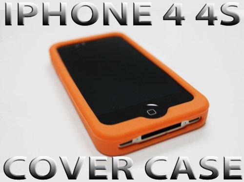 IPHONE 4S 4 SILIKON CASE ORANGE SCHUTZHÜLLE BUMPER SILICON HÜLLE COVER TASCHE