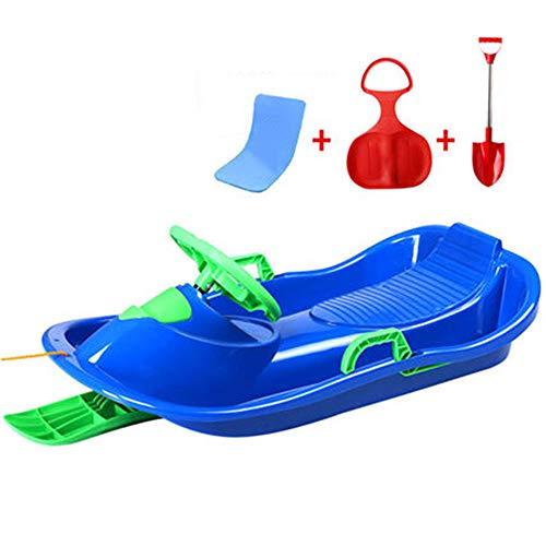 Xx-snow-sleds slitte di neve giocattoli slitta di plastica ampia slitta di plastica con corda bambini adulti slittino slitta di neve invernale