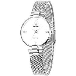 OUMOSI Fashion Simple Student 50M Waterproof Alloy Strap with Quartz Movement Wristwatches