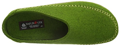 Haflinger Unisex-Erwachsene Blizzard Credo Pantoffeln Grün (Grasgrün 36)