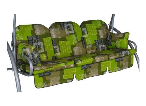 Angerer Deluxe Schaukelauflage 3-Sitzig Design Florenz grün
