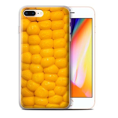 Stuff4 Gel TPU Hülle / Case für Apple iPhone 8 Plus / Pack 10pcs / Lebensmittel Kollektion Maiskolben