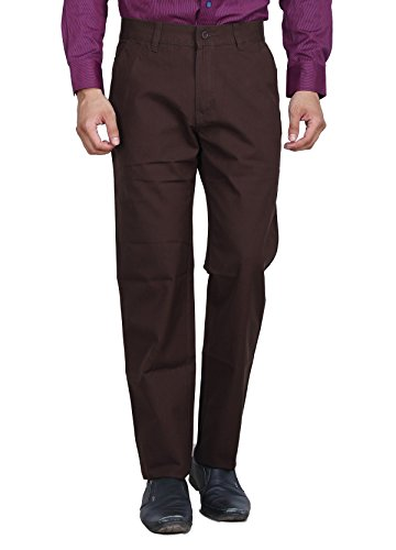 Studio Nexx Men's Regular Fit Cotton Chinos Trouser (Coffee, Size - 40)  available at amazon for Rs.749