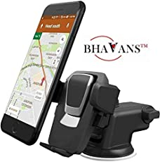 BHAVANS Maczee 360 Degree Rotating, Adjustable Mobile Holder Stand For Car Windshield/ Dashboard To iphone/ Samsung/ Soni/ Xiaomi/ Motorola/ GPS