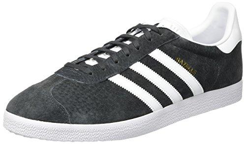 adidas Gazelle, Zapatillas de deporte Unisex Adulto, Gris (Dark Grey Gris Heather Solid Grey/white/gold Metallic 0), 49 1/3 EU
