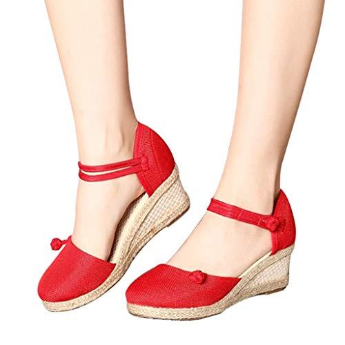fe1515595 Beladla Sandalias Mujer CuñA Casual Zapatos De BañO Verano Fiesta Chanclas  Boho Playa