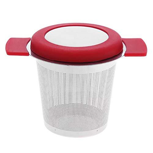 Caeasar Filtros Reutilizables del café del tamiz de la Malla de la Cesta de Infuser del té del Acero Inoxidable Coladores de té con asa