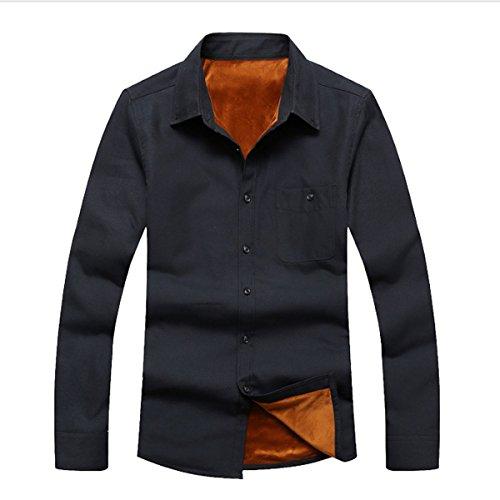 Uomo Autunnali E Invernali Cantieri Di Grandi Dimensioni Manica Lunga Camicia Multicolore Molteplici Dimensioni Black