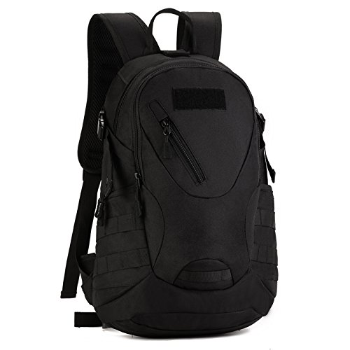 Imagen de huntvp táctical  militar  asalto  gran bolsa de hombro impermeable 20l para las actividades aire libre, senderismo, caza ,viajar,color negro