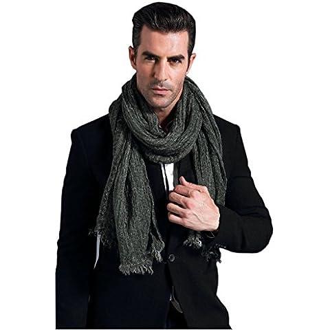 Prettystern - lino sciarpa 200 cm di lunghezza e biancheria per fazzoletto da collo modale fibra naturale a colori - selezione di colore