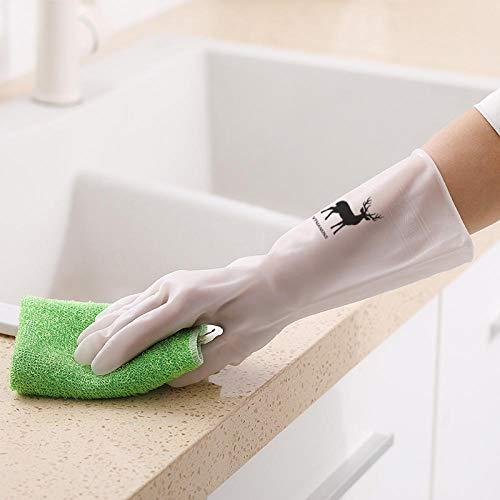 Plisco Gummi-Geschirrhandschuhe weibliche Dünnschliff langlebige Hausarbeit Reinigung wasserdichter Latex waschen Kleidung Hygienehandschuhe M_C -