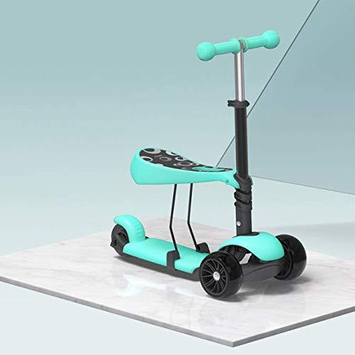 ZNDDB Kinder Laufrad - Kinderroller 3-Rad Roller Flash-Rad Für Kinder Im Alter Von 2-6
