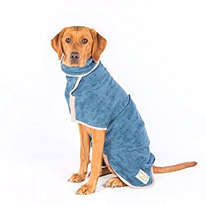 Ruff and Tumble Dog Drying Coat - Classic Collection (XXXS, Brick Red) 6