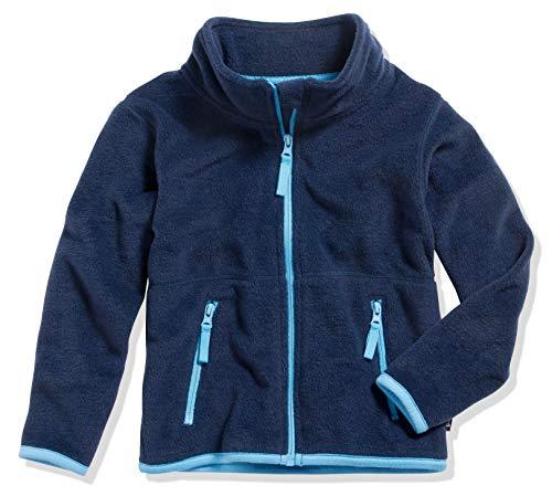 Playshoes Jungen Fleece farbig abgesetzt Jacke, Blau (Marine 11), 86