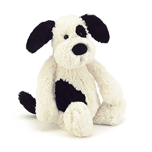 Jellycat Bashful Welpe Hund Kuscheltier Stofftier Plüsch - mittelgross - 31cm - Puppy Dog - Schwarz und Creme -