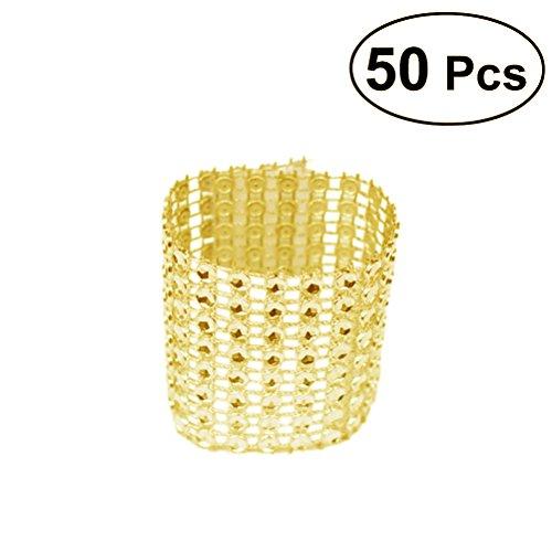 Serviette Serviette Handgefertigt Inhaber die Schnalle für das Bankett Hochzeit Dekoration der Tisch Abendessen (Gold) ()