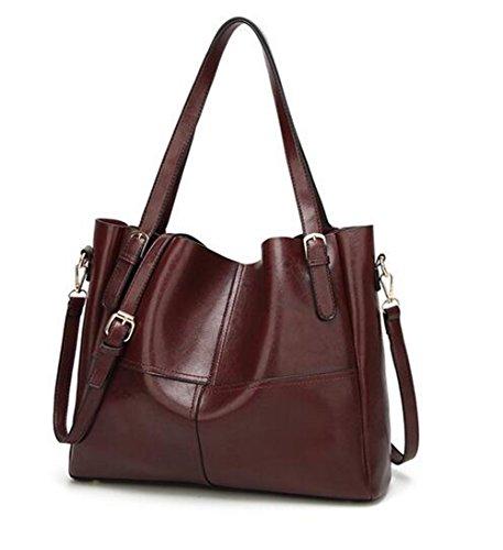 MeiliYH Borsa di cuoio del sacchetto di spalla della nuova di modo del cuoio dell'unità di elaborazione di Rosso