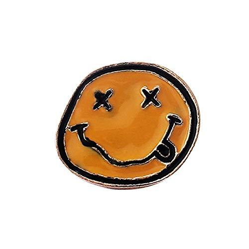 DC CLOUD Brosche Vintage Herren Kleidung Brosche Lustige Cartoon-brosche Anstecknadeln Ausdruck Emoji-brosche Kleiderbrosche Corsage Legierung Gelbe Brosche 1