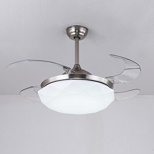LED Stealth Ventilatore a soffitto Luce Camera da letto Soggiorno Sala da pranzo Home Fan Light con telecomando (colore : 42 inch)