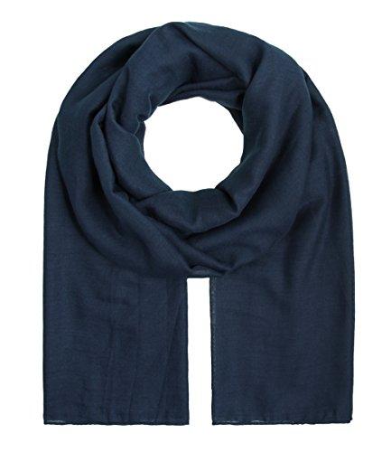 Majea XXL Schal Damen Tuch Halstuch einfarbig uni unisex unifarben Schals und Tücher (navy)