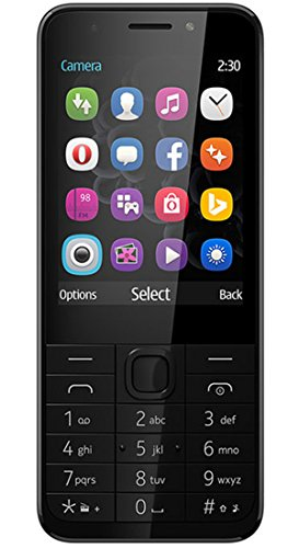 G-Vill G230 Dual SIM 2.8 inch LCD Display Keypad mobile with Facebook Bing Opera mini Mobile Store and Front and Rear Camera with flash light (Grey)