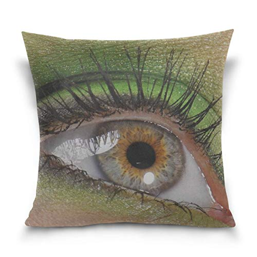 Hectwya Kissenbezug Eyes Eyelashes Eye Shadow Pupil Girl Decorative Cushion Cover Square Pillowcase, Eyes Eyelashes Eye Shadow Pupil Girl Sofa Bed Kissenbezug -