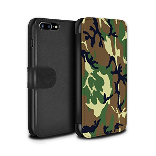 Stuff4 Coque/Etui/Housse Cuir PU Case/Cover pour Apple iPhone 4/4S / Vert 1 Design / Armée/Camouflage Collection Vert 4