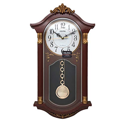 MRDEER Retro Wanduhr Vintage Uhr Pendeluhr Antik Glocke Uhren Wohnaccessoires Deko Haushalt...