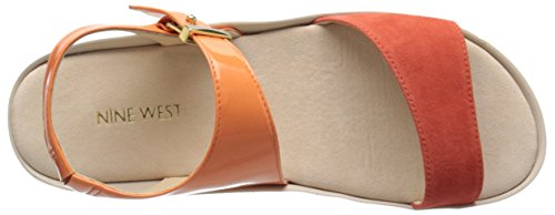 Nine West Izara synthétique Robe Sandal Orange/Red
