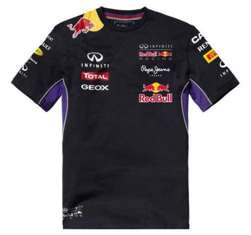 Red Bull Racing Teamline T-Shirt Enfant, Bleu/Rouge, 6 ans