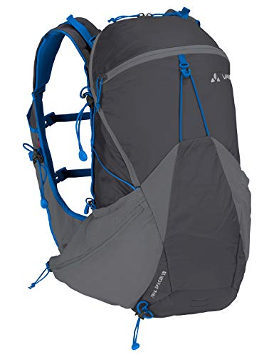 VAUDE Trail Spacer 18, Innovativer Rucksack für Speed Hiking und Biking Sporttasche, 48 cm, 18 Liter, Iron