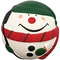asdomo 7cm Jumbo lento Rising squishies Papá Noel Muñeco de nieve bola Squishy kawaii Chritmas regalo suave juguetes Stress Reliever juguete para niños y adultos, pu, Verde, 7 cm