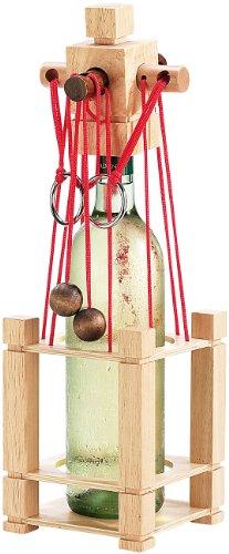 Playtastic Weinpuzzle: Flaschen-Puzzle Siena aus stabilem Echtholz (Flaschenpuzzle Holz)