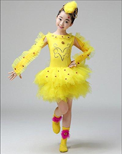 Faschingskostüme für Kinder Kinder tanzen verrückt Tanzleistungskleidung Kinder Kleidung gelb, ()