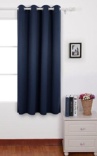 Deconovo tende oscuranti termiche isolanti con occhielli per tua casa 100% poliestere blu navy 140x180 cm un pannello