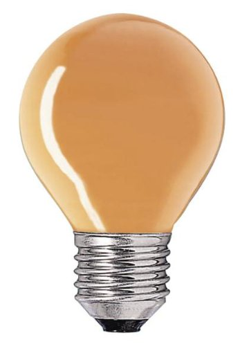 Philips incand. Colored Blown Refl. die Incandescent Lamp 871150032692850 - Incandescent Bulbs (15 W, P45, E27, 25 LM, 1000 H, Orange)