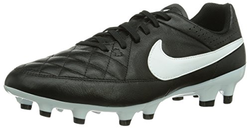 Nike Tiempo Genio Leather FG Uomo Scarpe da Calcio Black/White 42 EU