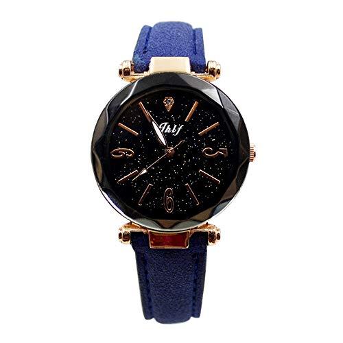 Armbanduhren Damen Mode Frauen Leder Casual Uhr Luxus Analog Quarz Starry Sky Armbanduhr