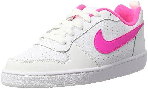 Nike Damen Court Borough Low (GS) Basketballschuhe, Weiß (White/Pink Blast 100), 36 EU