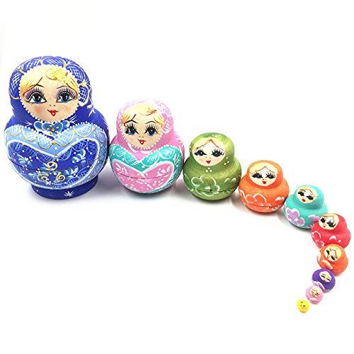 Sky God Russische Verschachtelung Puppe Handgemalte Spielzeug Dekoration -