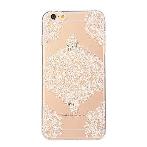 Cover iPhone 6, iPhone 6S Trasparente Custodia, Bonice Morbido TPU Case silicone pulire Ultra Sottile Antiurto Antigraffio Antiscivolo Case Per iPhone 6/6S(4.7 Pollici)- fiore