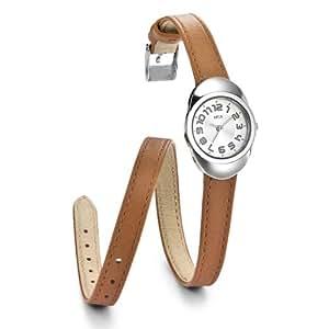 opex x3841la1 dunea montre femme quartz analogique cadran argent bracelet cuir. Black Bedroom Furniture Sets. Home Design Ideas