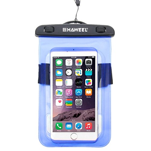 GHC Cases & Covers, HAWEEL Transparente Universal Wasserdichte Tasche mit Lanyard für iPhone 6 & 6 Plus / 6S & 6S Plus, Samsung Galaxy S6 / S5 / Note 5 ( Color : Orange ) Blue