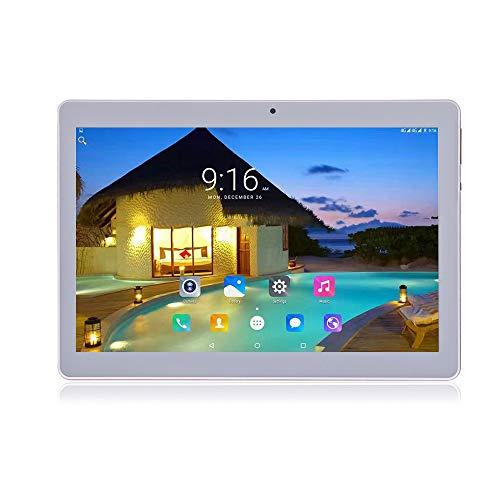 Android 8.1 Tablet 10 Zoll Dual-SIM 64 GB Speicher Full HD IPS Touchscreen Dual Kamera 2MP und 5MP, Speicher Octa Core CPU, WLAN / Bluetooth (Metall Silber)