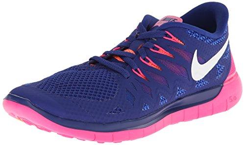 Nike Free 5.0, Chaussures de Running Femme Dunkelblau/Pink