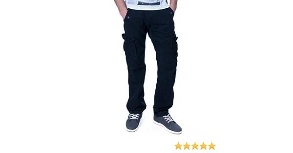 Pantalon Noir Homme 100Coton Omasculin Cargo Threenity roCxBeWd